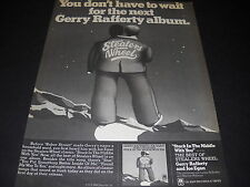 STEALERS WHEEL Gerry Rafferty & Joe Egan 1978 PROMO DISPLAY AD mint condition