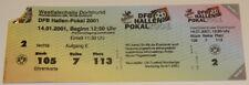 ticket DFB Hallen Pokal 2001 BVB Borussia Werder Cottbus FC Koln Bochum Furth