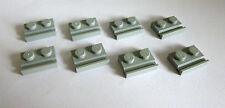 8 x LEGO® 32028 Platte 1x2 mit Führung Schiene neuhellgrau Neuware.