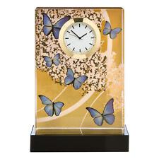 Goebel Artis Orbis Blue Butterflies stupendo orologio da tavolo Joanna Charlotte Orologio Tavolo 15.5 cm