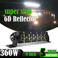 360W 8inch LED Work Light Bar Flood Spot Fog Lamp Offroad SUV Driving Truck 7""