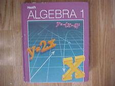 Heath, Heath Algebra 1, 1987 ISBN: 0669061611