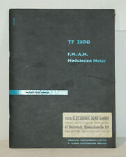 Marconi TF 2300 Instruction Manuals Buch F.M./A.M. Modulation Meter