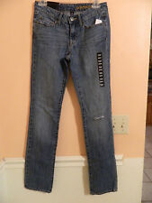 "NWT GAP womens premium straight distressed washed denim jeans ""your go to jeans"""