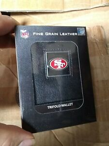 San Francisco 49ers Fine Gain Leather Trifold Wallet