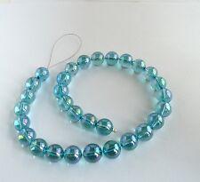 Aqua Aura 12mm Round Quartz Beads 1 lot 30 beads