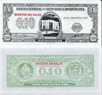 DOMINICAN 10 CENTAVOS 1961 P 86 SPECIMEN UNC