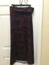 LuLaRoe MAXI Skirt. Greens/Pink/Gold. Size Medium. NWOT.