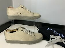 Lanvin Mens Nubuck Leather Sneakers, Shoes, Uk 7 Eu41, Beige, Vgc