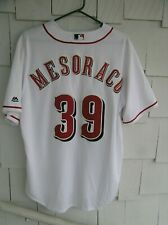 CINCINNATI REDS DEVIN  MESORACO 39 Reds REPLICA COOL BASE WHITE JERSEY LARGE