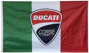 Italy Ducati Corse Flag Banner Racing Motorcycles MotoGP 3x5ft