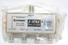 Steren 201-234 4-way satellite dish cable splitter 1 DC pass for FTA LNB