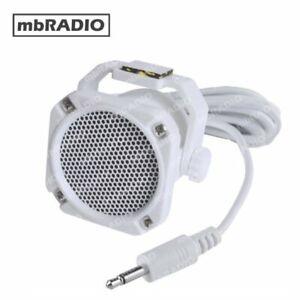GME SPK45 WATER RESISTANT EXTENSION SPEAKER for HF, VHF, UHF, MARINE *WHITE*