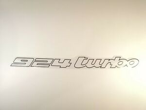 Porsche 924 Turbo S2 1980-1982 Rear Decal Sticker Emblem Black on Clear Film