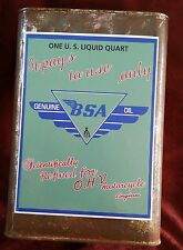 """BSA MOTORCYCLE COMPANY OIL CAN Sticker Decal 8"""" X 6"""" Indian Ariel Harley Hog"""