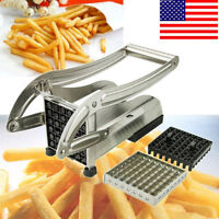 2 Blades Stainless Steel French Fry Cutter Potato Vegetable Slicer Chopper Dicer