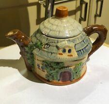 VINTAGE COTTAGE TEA POT TEAPOT 1940S JAPAN POTTERY VINTAGE HOUSE