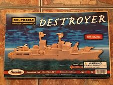 3-D Wood Craft Construction Kit Puzzle - Destroyer  #1409