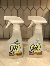 (2-PACK) Fit Organic Fruit & Vegetable Produce Wash 12oz Spray Bottle