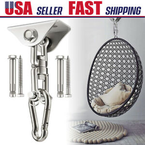 900 LB Hammock Swing Chair Hanging Kit Stainless Steel Swivel Hook Ceiling Mount