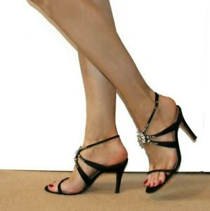 Karen Millen Shoes Barely There Sexy Sandal 5 38 High Heel Embellished Party