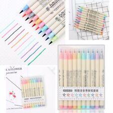 10 Colour Drawing Calligraphy Artist DIY Brush Pens Watercolour Painting Pen Set