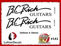 BC Rich Guitar Decal Headstock Decal Restoration Waterslide Logo inlay 141