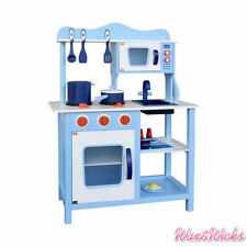 Wooden Kitchen Pretend Play Set Home Toddlers Cookware Toy For Kids