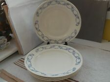 FOUR 1919 /20 BARKERS AND KENT SMALL DINNER / SALAD PLATES WITH BLUE PATTERN