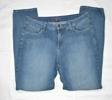 Womens NYDJ Light Wash Straight Leg LiftTuck Technology Ankle Jeans Denim Sz 12