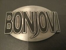 BON JOVI Logo New BELT BUCKLE Black & Silver Colour Metal Rock Music Bonjovi