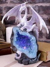 Dragon Crystal Geode Guardian Figurine Sculpture Statue Ornament Led Light 22cm