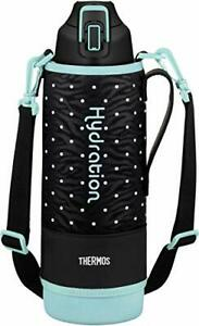 Thermos water bottle dot black 1.5L vacuum insulation sports bottle FHT-1500F