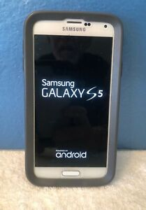 Samsung Galaxy S5 SM-G900T ~16GB ~ White ~ T-Mobile ~ Fully Functional