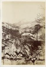 Paysage d'Hiver  Vintage albumen print.  Tirage albuminé  12x18  Ci