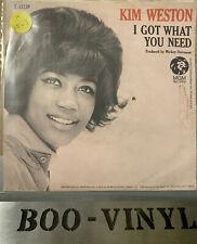 "KIM WESTON ~ I GOT WHAT YOU NEED - NORTHERN SOUL VG+ 7"" Vinyl Record"