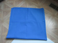 Vintage Handmade Tablecloth Periwinkle blue 42 x 44