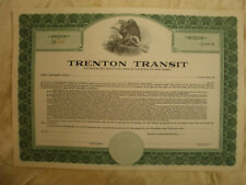 Trenton Transit Stock Certificate