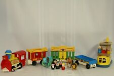 Fisher Price Vintage Circus Train #991 & Lacing Shoe #136 Animals Little People
