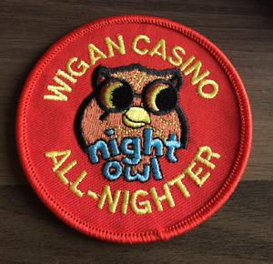 WIGAN CASINO All-Nighter Night Owl New Iron On Sew On Patch Northern Soul Scene