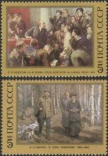 Russie 1987 Lénine 117th anniversaire anniversaire/Politics/Gens/Art 2 V Set (n45820)