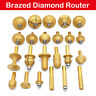 Pro Electroplated Diamond Stone Marble Grinding Edge Router Bit 23 Models New