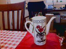 Vintage Mary Hughes Amaryllis Holly Teapot