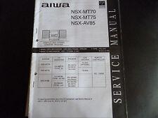 Original Service Manual  AIWA  NSX-MT70 NSX-MT75 NSX-AV85