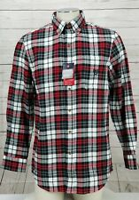 Chaps Men's Size 4XB Plaid Performance Flannel Shirt Long Sleeve Breathable