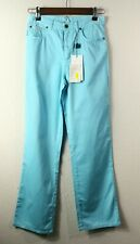 Dolce & Gabbana Junior Pants Trousers Sky Blue 100% Cotton Size 12, NWT!