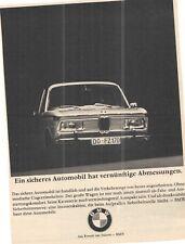 Bmw 2000-vieja anuncio-histórica publicitarias-vintage Advert-publicitaria -