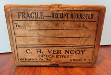 Vintage- C.H. Ver Nooy Optometrist Watkins Ny - Optician Eye Glass Mailer