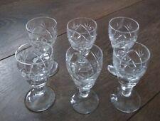 More details for set of 6x vintage webb corbett liqueur glasses prince charles 30 vgc