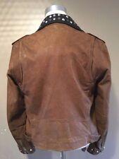 Diesel Waist Length Leather Biker Jackets for Men